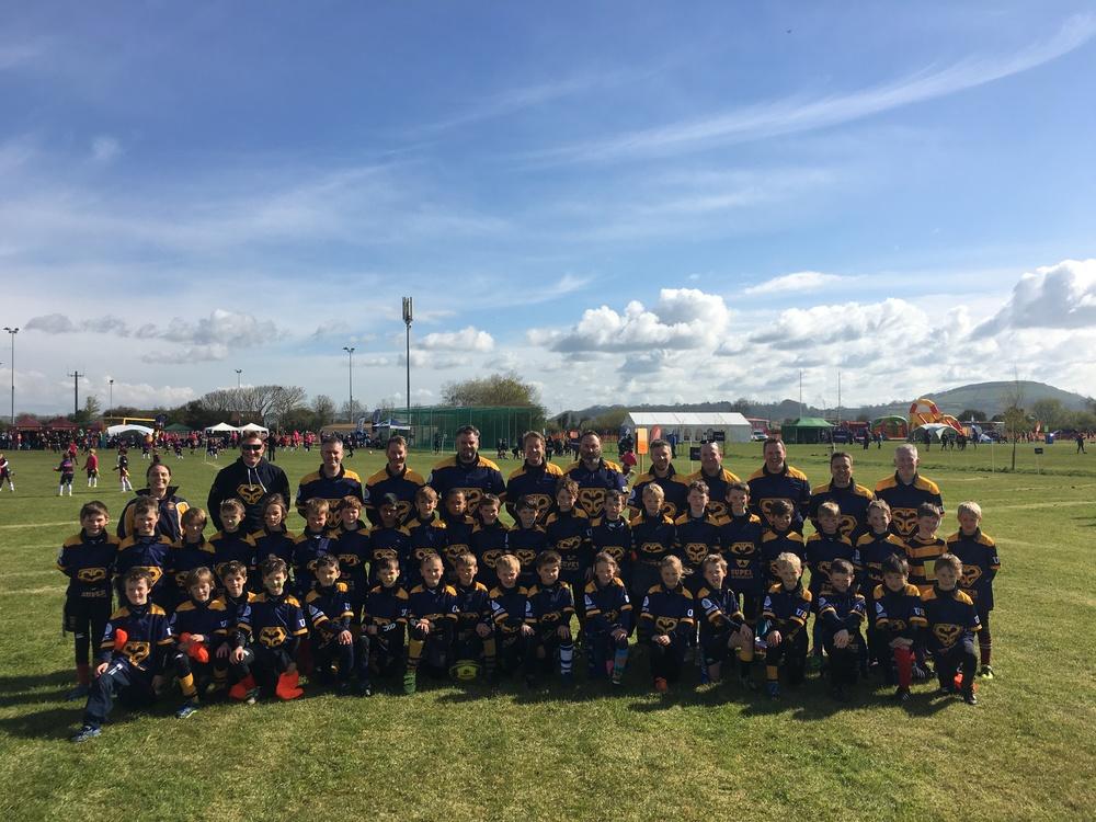 Sevenoaks U8s Squad in Burnham-on-Sea