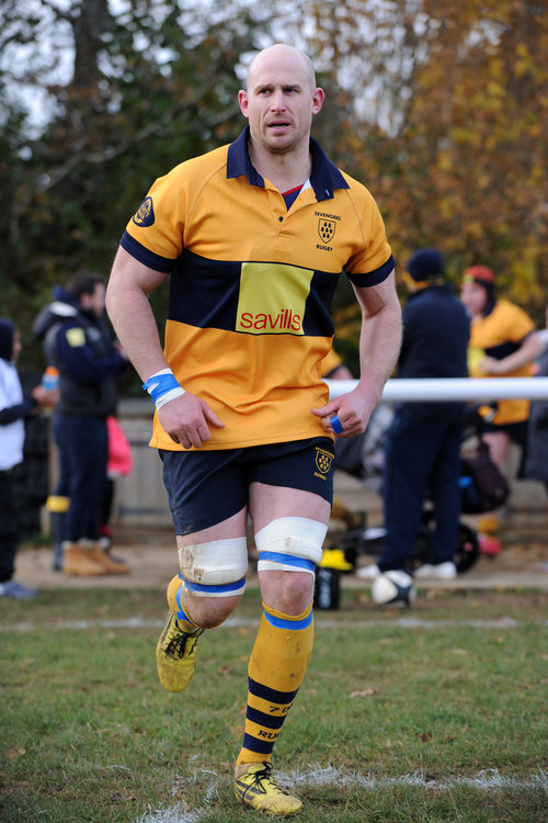 Captain Stuart Coleman leads out the Oaks in his 100th 1st XV appearance for the Club.  Photo Credit: David Purday