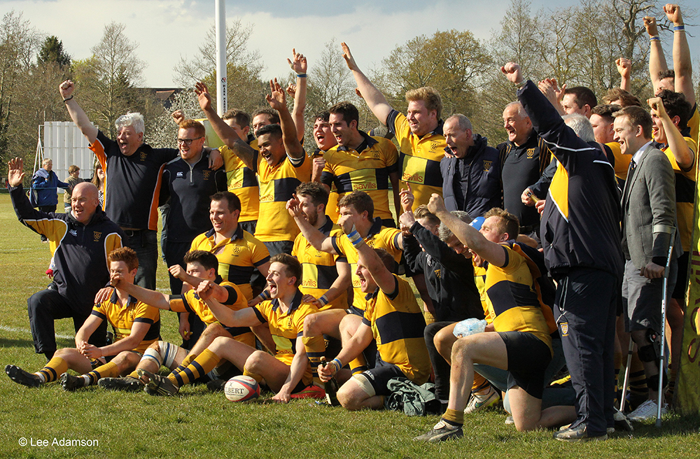 Promotion! April 2016 saw Oaks beat London Cornish to secure promotion to London South 1. Photo Credit: Lee Adamson