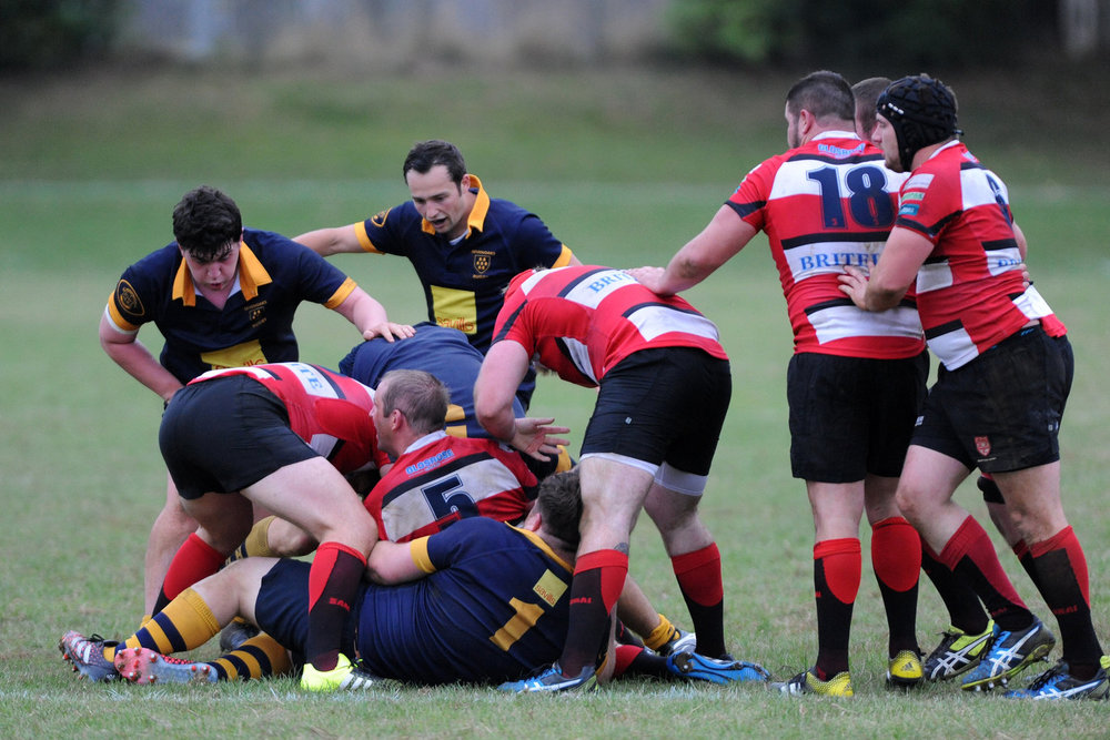 Broken down: Oaks were outplayed at the breakdown by their hosts on Saturday.  Photo Credit: David Purday