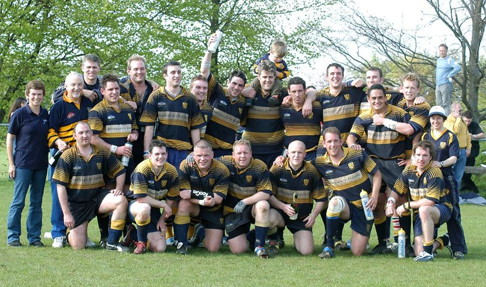 Promotion! Ron Standen (second from left, standing)  was Head Coach when Sevenoaks RFC gained promotion to Level 6 in the 2004/5 season