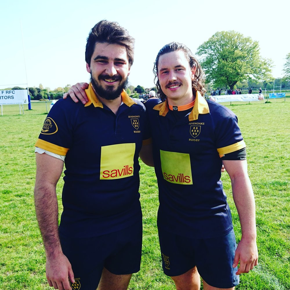 Farewell.  Simon Humble and Isaac Winter both played their last matches for Sevenoaks RFC