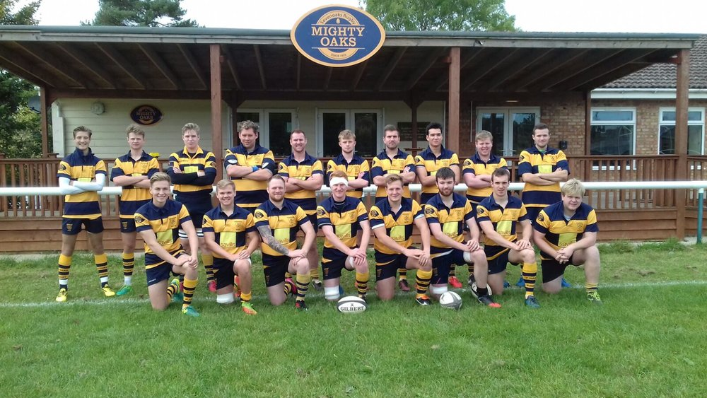 Oaks 3rd XV line up before their match with Deal and Betteshanger RFC 2nd XV