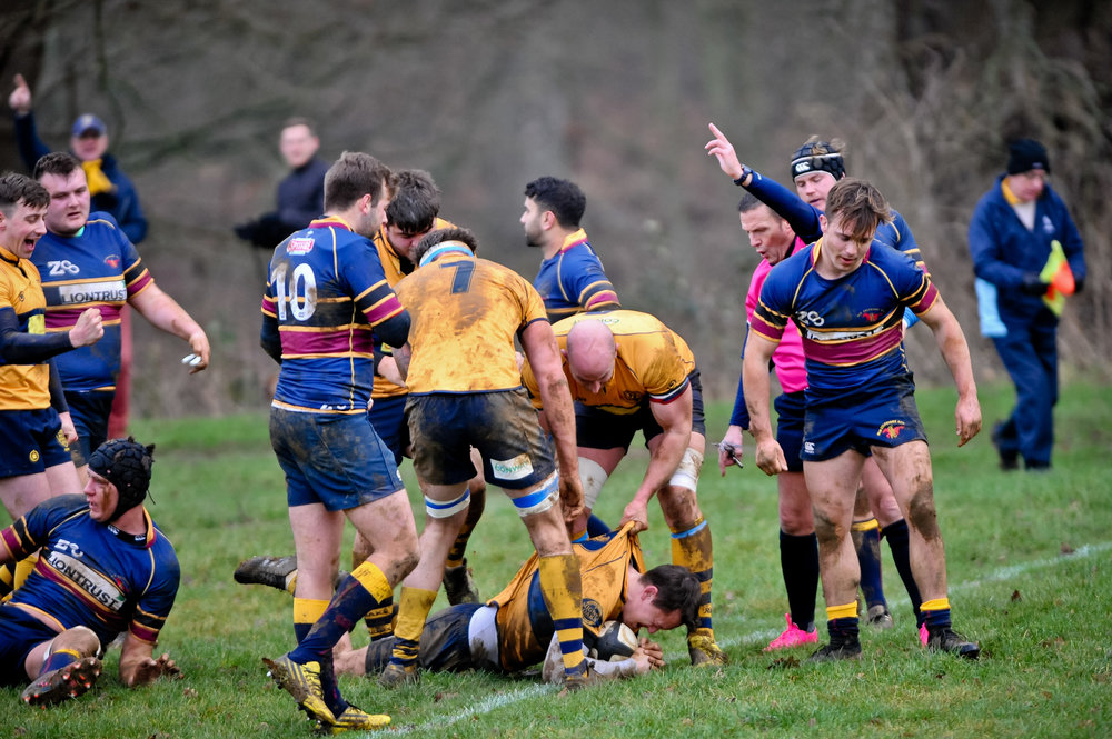 SEVENOAKS RUGBY V OLD COLFEIANS 6 JAN 2018 Photo credit: Dave Purday