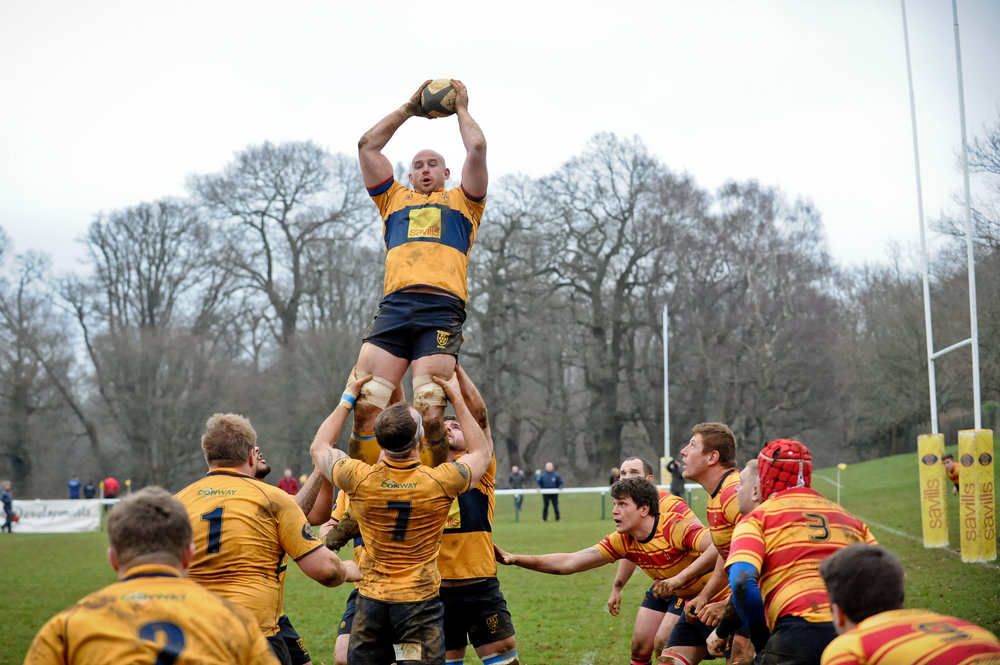 SEVENOAKS RUGBY V MEDWAY 13 JAN 2018 Photo credit@ Dave Purday