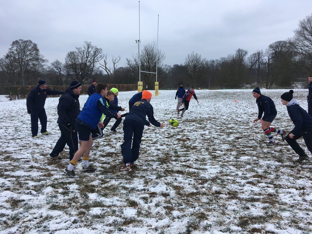 Oaks Academy braving the elements