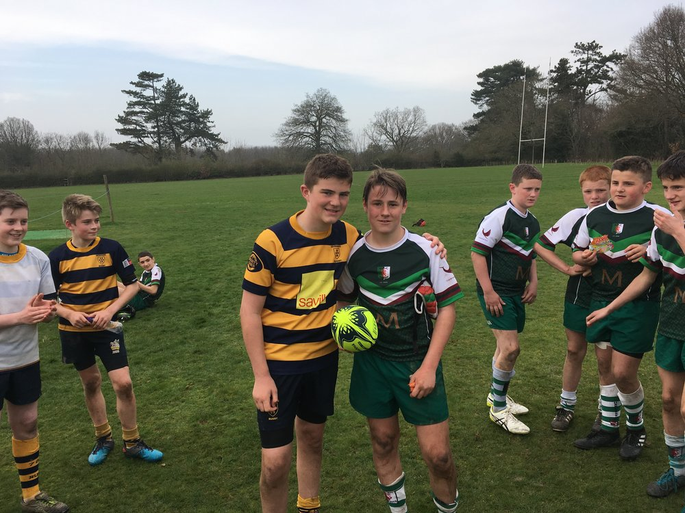 Allez allez allez! Oaks U13s enjoyed a cracking encounter with friends Hasparren from the Basque country