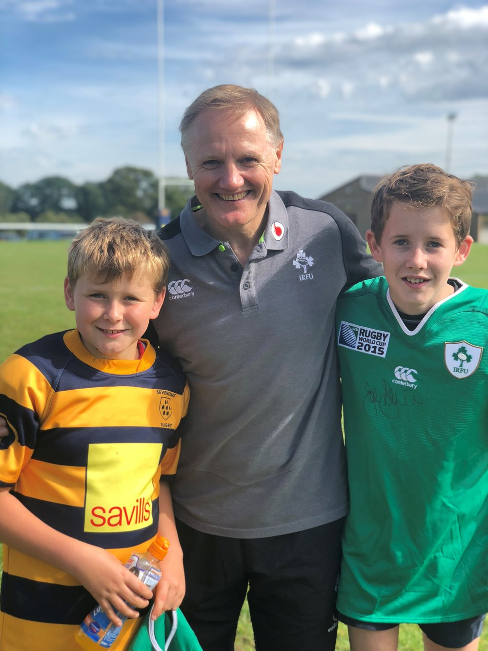 Joe Schmidt and two young Oaks
