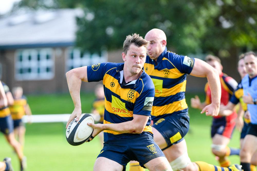 Oaks   vice captain Nigel Gumbleton in action last weekend against Chobham. Photo credit: David Purday