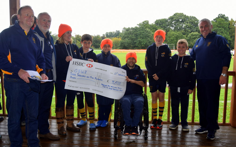 Amazing donation from the Sevenoaks Juniors and Minis Tour