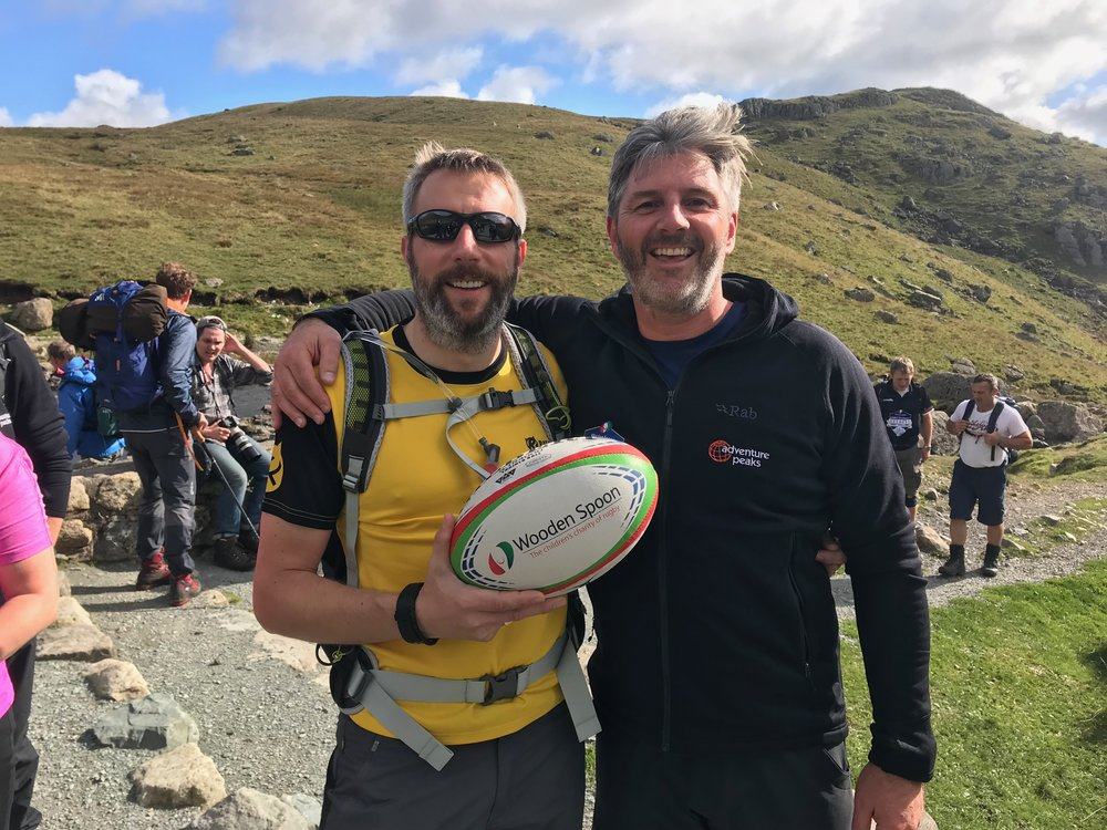 Simon Wright and Miles Hayward at pictured at their Round 1 Training in the Lake District