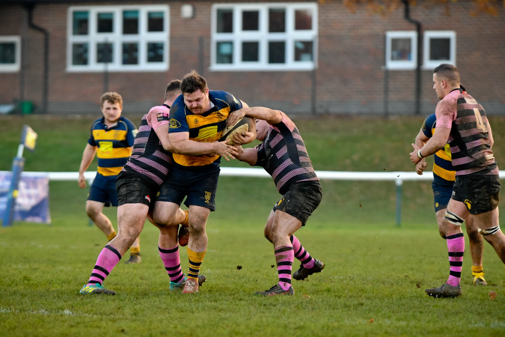 Dan Power looks to break through in last weekend's match against Camberley. Photo Credit: David Purday