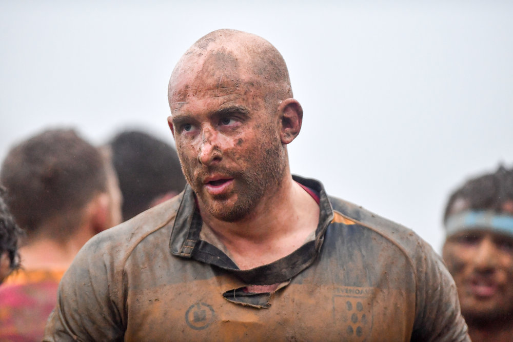 Mud bath!  Oaks skipper Stu Coleman face and shirt says it all after Oaks win against Dartfordians RFC on Saturday.  Photo Credit: David Purday