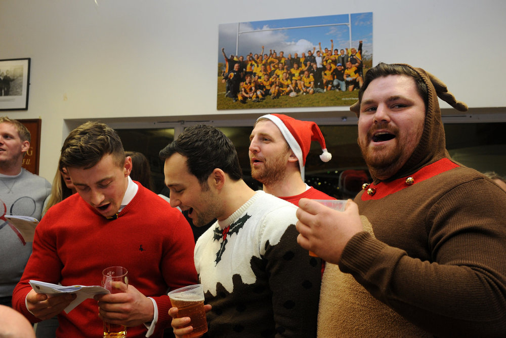 COME ALL YE FAITHFUL!  Carols will take place in the Clubhouse after the matches.  Photo Credit: David Purday