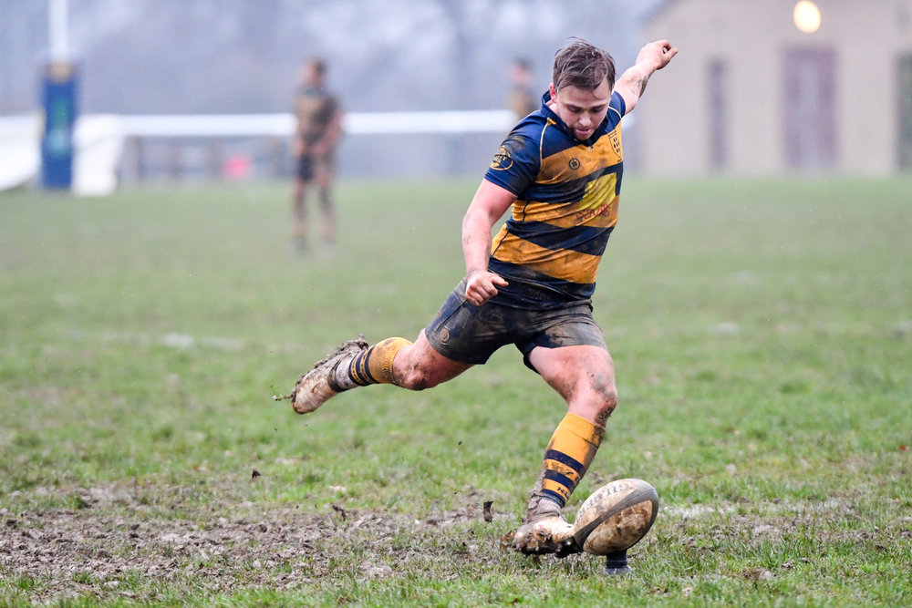 Oaks Ed Ansell scored a try and kicked well in atrocious conditions on Saturday on his home 1st XV debut. Photo Credit David Purday