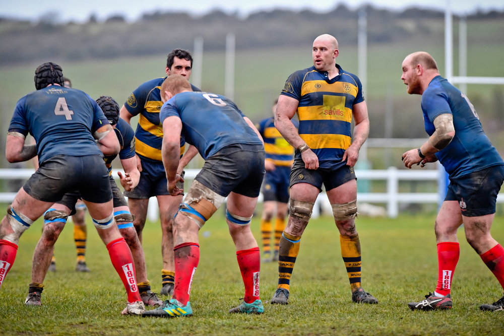 Captain Stuart Coleman made his 150th 1st XV appearance in a memorable win for Oaks against Brighton Blues.  Photo Credit: David Purday