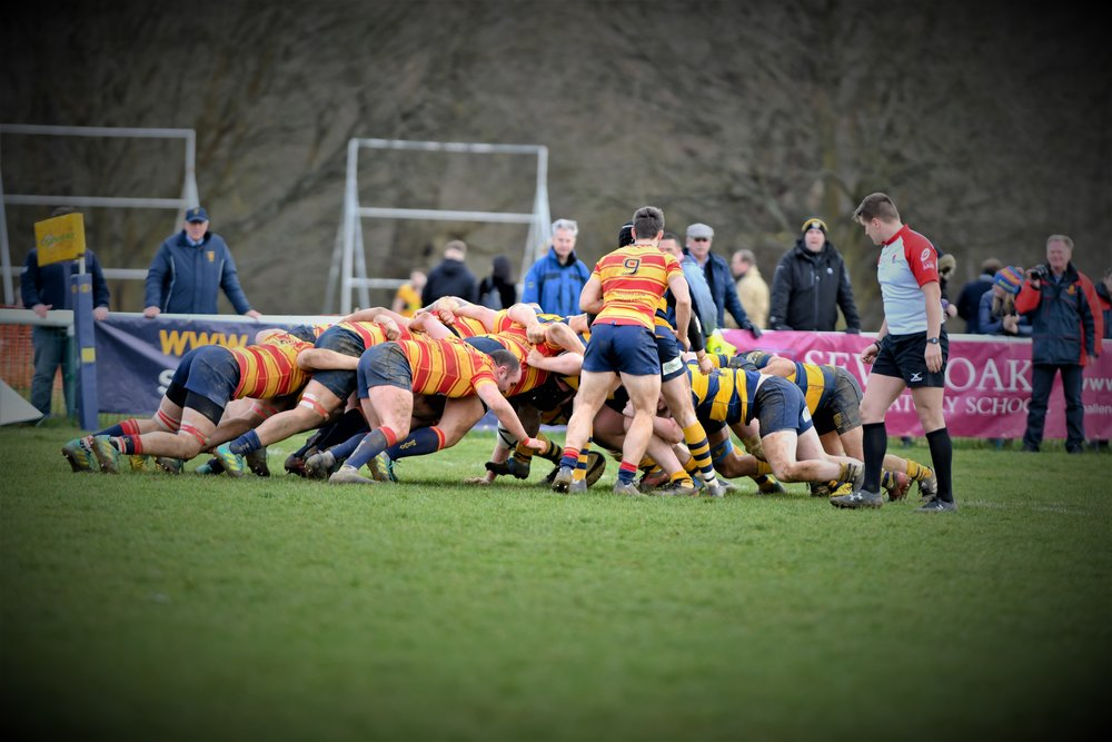 OAKS 1st XV v. MEDWAY RFC 1st XV 2 MARCH 2019  Photo Credit: David Purday