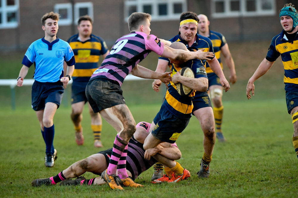 Oaks prevailed against Camberley RFC in the last fixture between the sides in November during a physical affair. Photo Credit: David Purday