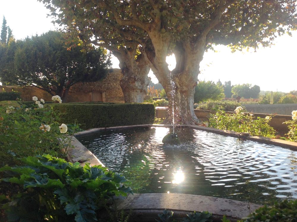 The Sultan's pool at Le Pavillon de Galon