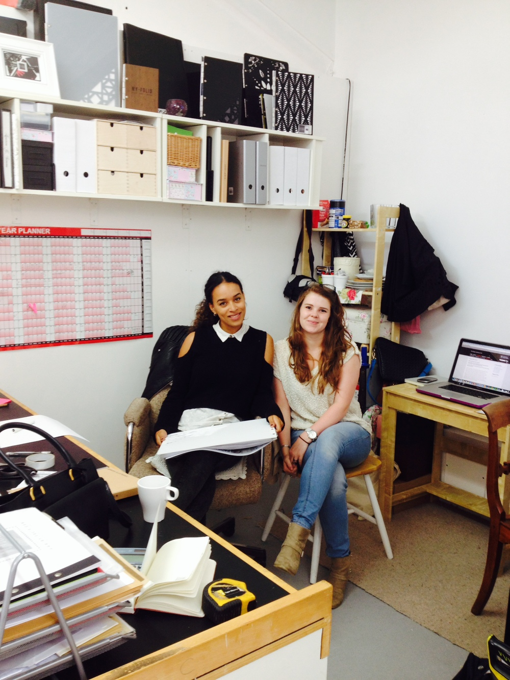 Meet Charlotte Husher [right] MY-FOLIOS new design assistant.