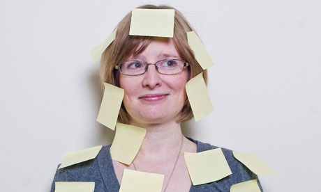 Lucy Mangan loves a good old post-it note | Photograph: Sarah Lee