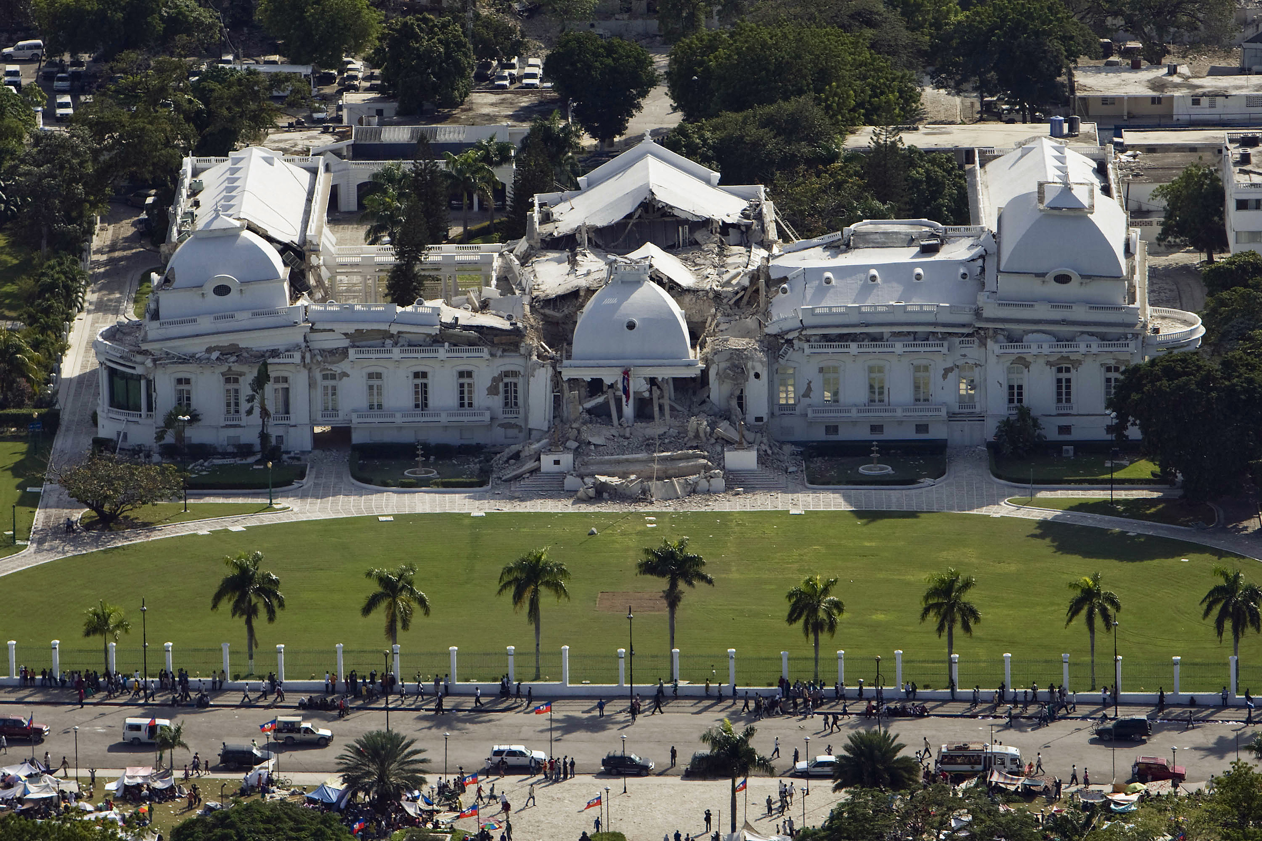 The Presidential Palace in Port-au-Prince (United Nations Photo)