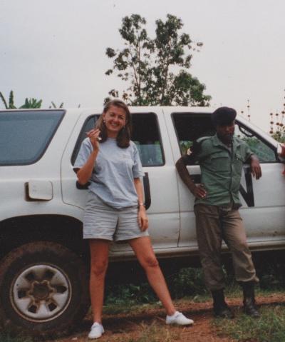 Sara Darehshori in Rwanda.
