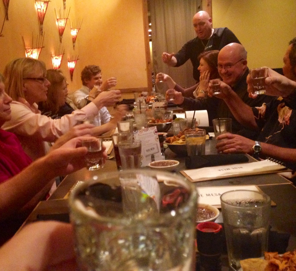 Film at Eleven and members of the TCU community attend a tequila tasting at the Blue Mesa Grill in Dallas Fort Worth, Texas. October, 2014.