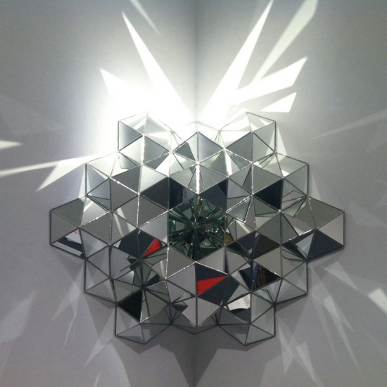 Andy Diaz Hope, Centering Device #8 2013, Mirror, Lead, Glass. 37.5 x 28 x 28 inches.