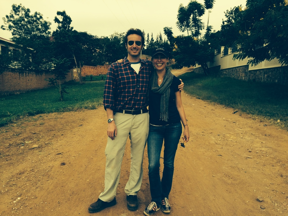 Nick Louvel and Michele Mitchell in Kigali, Rwanda in May 2014.