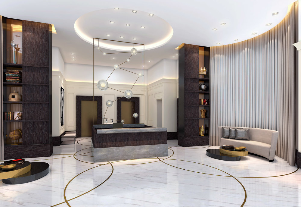 LUXURY COMMERCIAL RESIDENTIAL INTERIOR DESIGNS AT GIRALDA PLACE CORAL GABLES