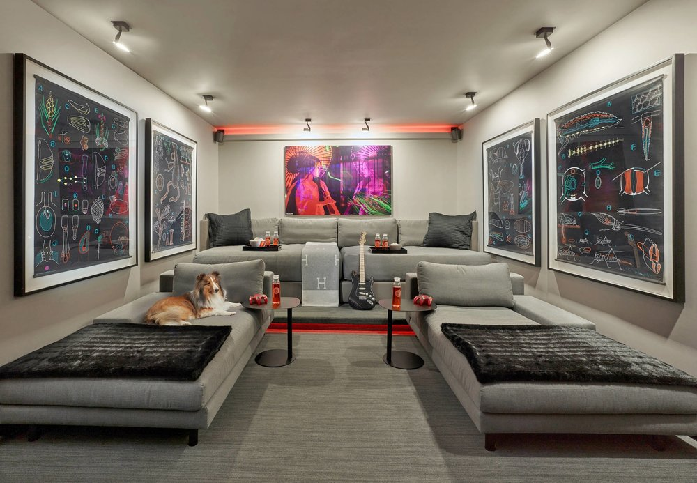 Contemporary Home Theater (2)