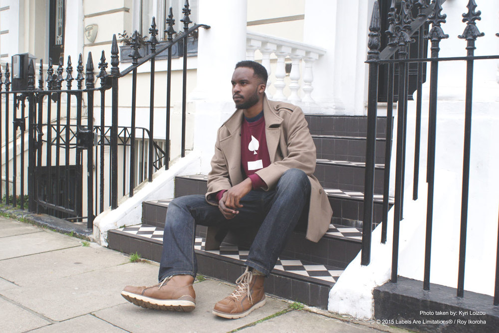 Sitting on someone's steps in Notting Hill (the owners were cool with it)