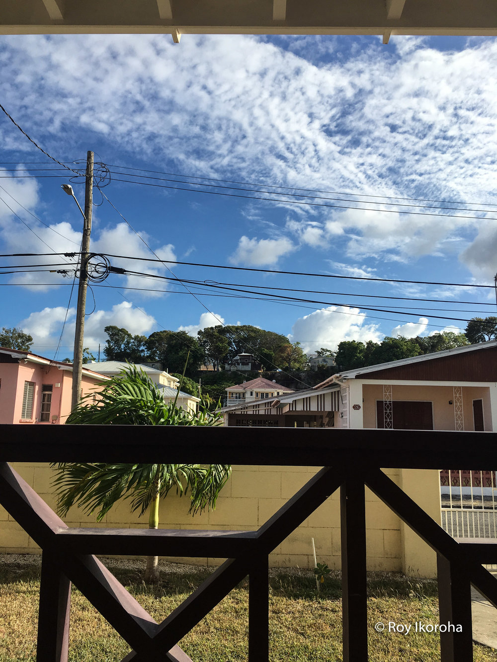 View from ground level of villa, Barbados