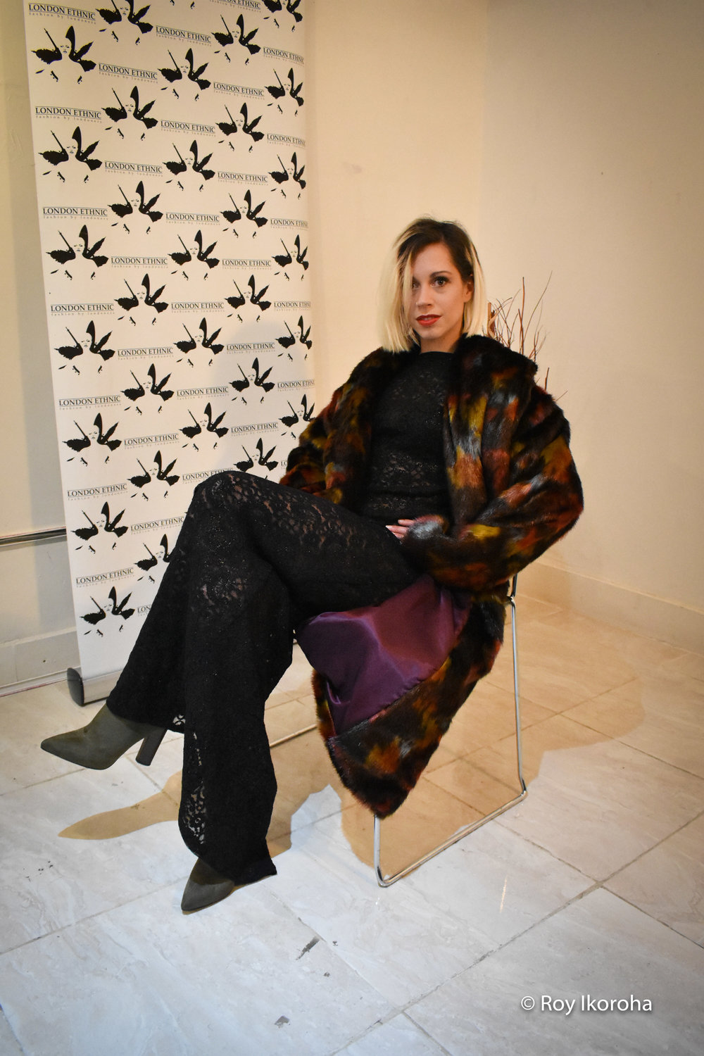 Claire photographed for London Ethnic at 508 King's Road Gallery in Chelsea, London
