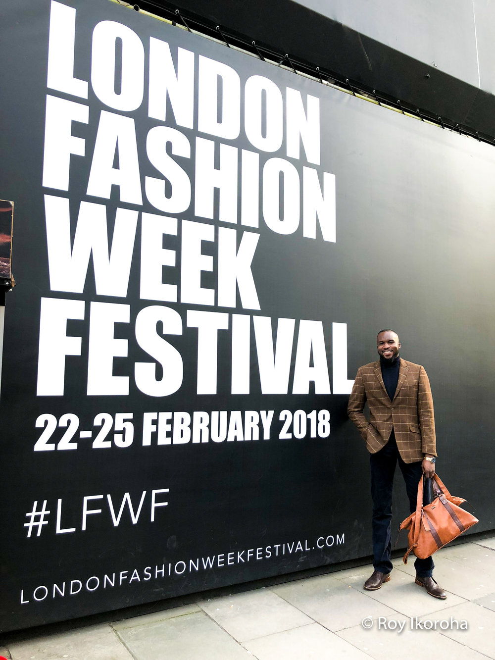 Arriving at London Fashion Week Festival 2018, The Store Studios, Strand, London (central)