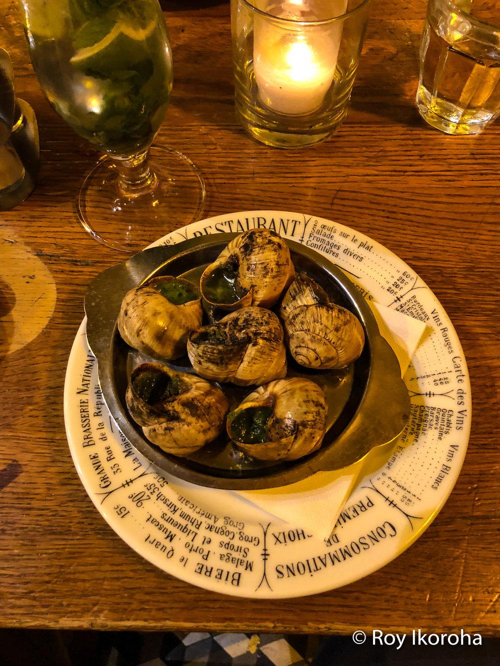 Trying snails, Odessa, Paris