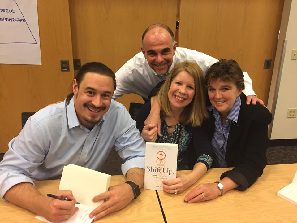 Shift UP book Signing with friends and Co-Authors, DeANNA Murphy, LIsa Gregory and Steve Jeffs.