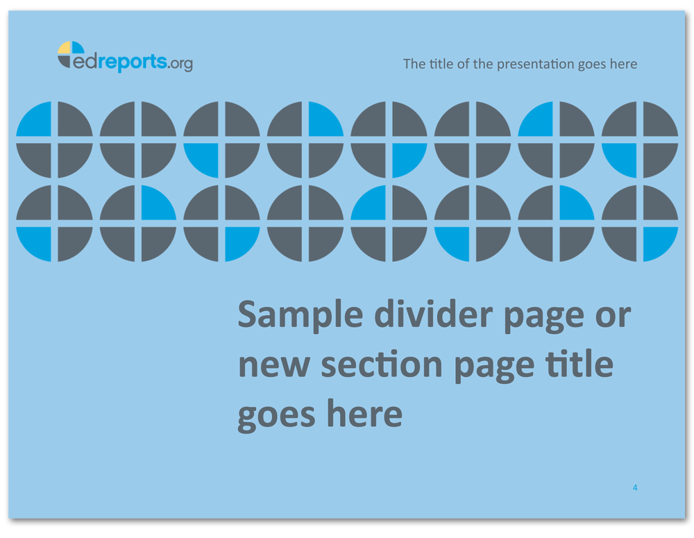 Sample Section Divider Screen