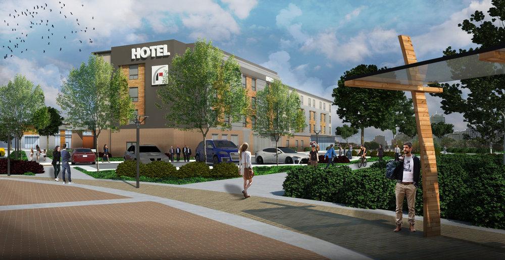 Hotel concept render.