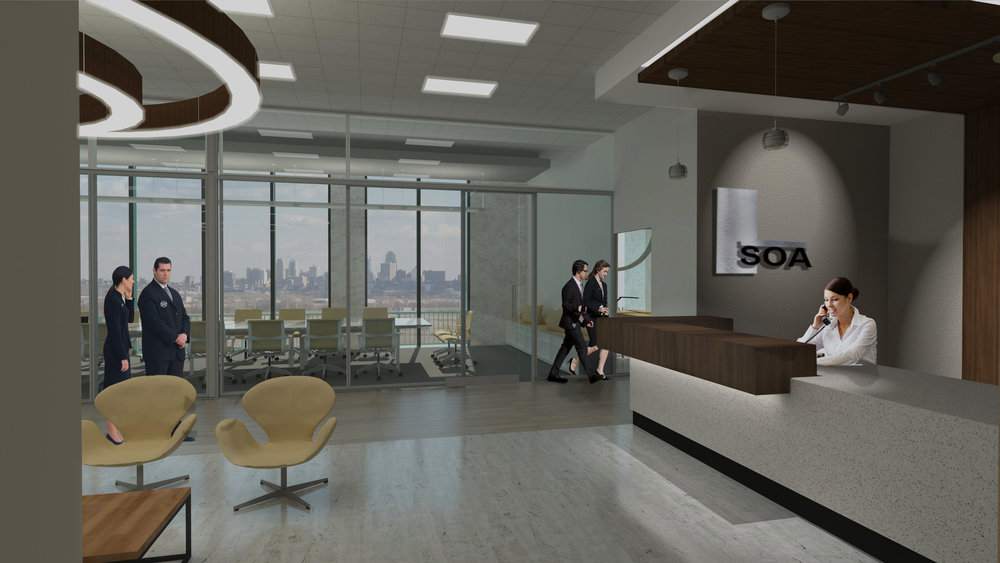 Reception Lobby Render.