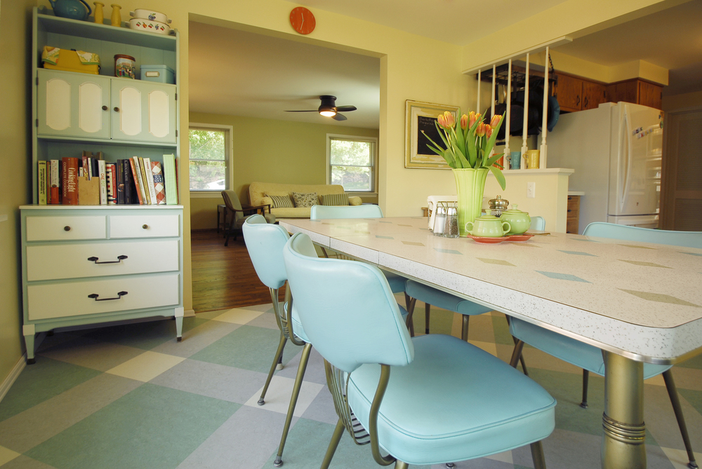 AFTER: The new opening from the daylight-filled breakfast nook to living room