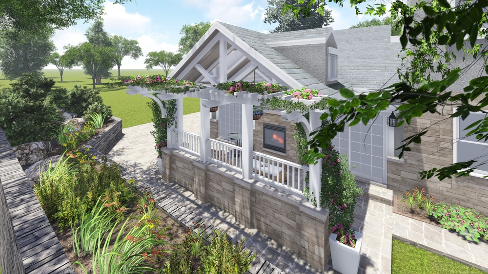 PROCESS: New side porch with front facade elements