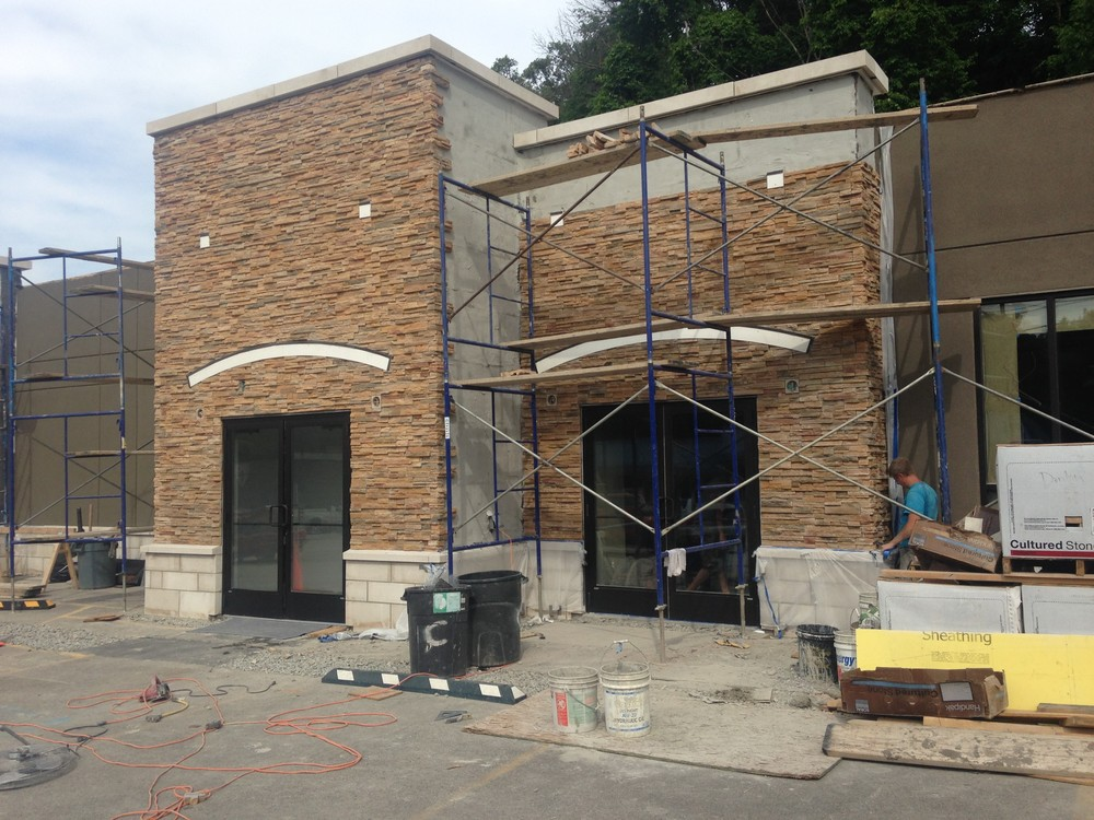PROCESS: Facade under construction