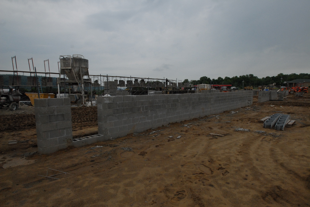 PROCESS: Masonry walls installation