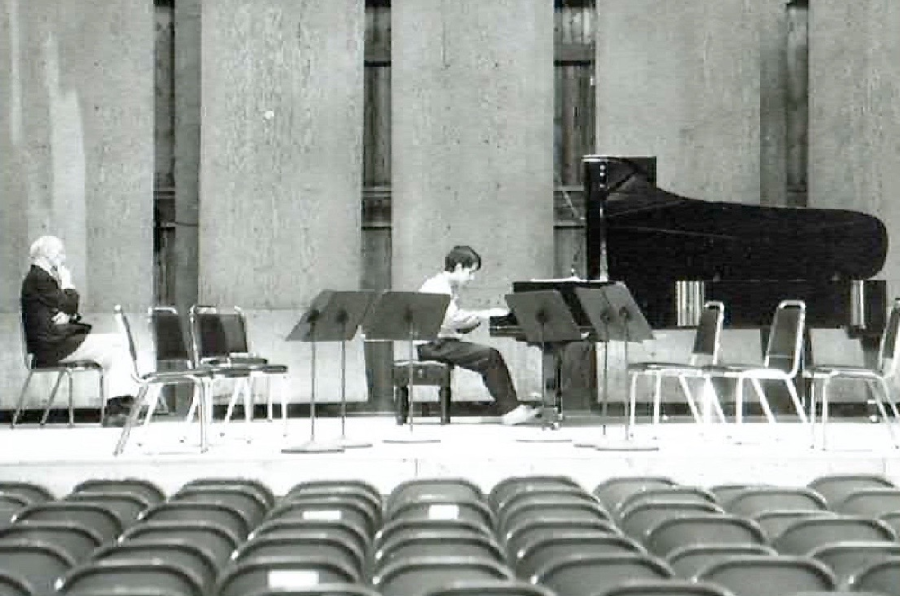 Playing for Rudolph Serkin—Marlboro Festival, 1989. Photo: Pete Checchia