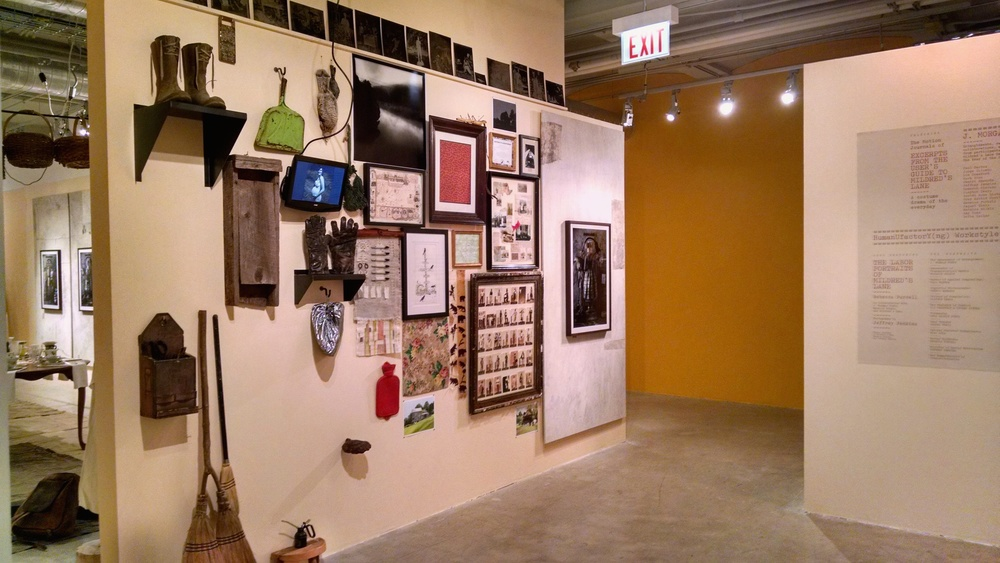Wall installation view.
