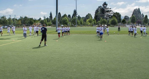 Lane United FC's open tryouts in June 2013 took place on the spacious turf fields at Willamalane Center.