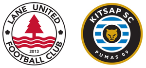 LANE UNITED FC  1 -  KITSAP PUMAS  2 Goalscorers: Bevans (LUFC) 24', Sanchez (Kitsap) 66', Sanchez (Kitsap) 90' + 3' Cautioned: Devlin (Kitsap) 19', Bevans (LUFC) 30', Catalano (Kitsap) 30', Shelton (LUFC) 41' Sent off: Shelton (Kitsap) 88' Venue: Willamalane Center, Springfield, OR Attendance: 400