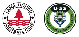 SEATTLE SOUNDERS FC U23  4  -  LANE UNITED FC  0 Goalscorers: Hansen 10', Morris 54', Bazja (PK) 58', Lee 62' Cautioned: van der Velde (LUFC) 84' Venue: Sunset Stadium, Sumner, WA Attendance: 256
